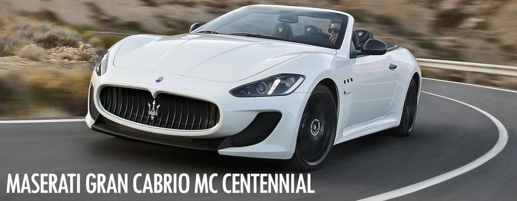 Maserati Gran Cabrio MC Centennial