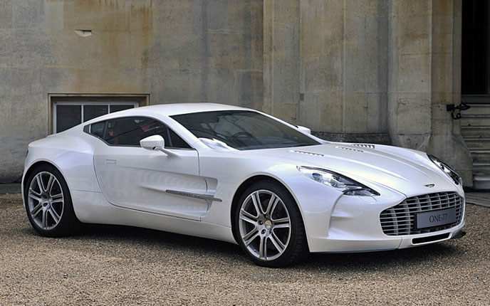 Aston Martin One-77 in white